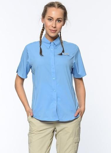 Columbia Kısa Kollu Gömlek Mavi